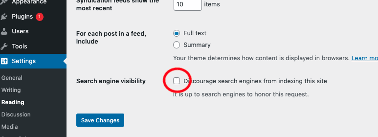 Re-enable Search Engine Indexing