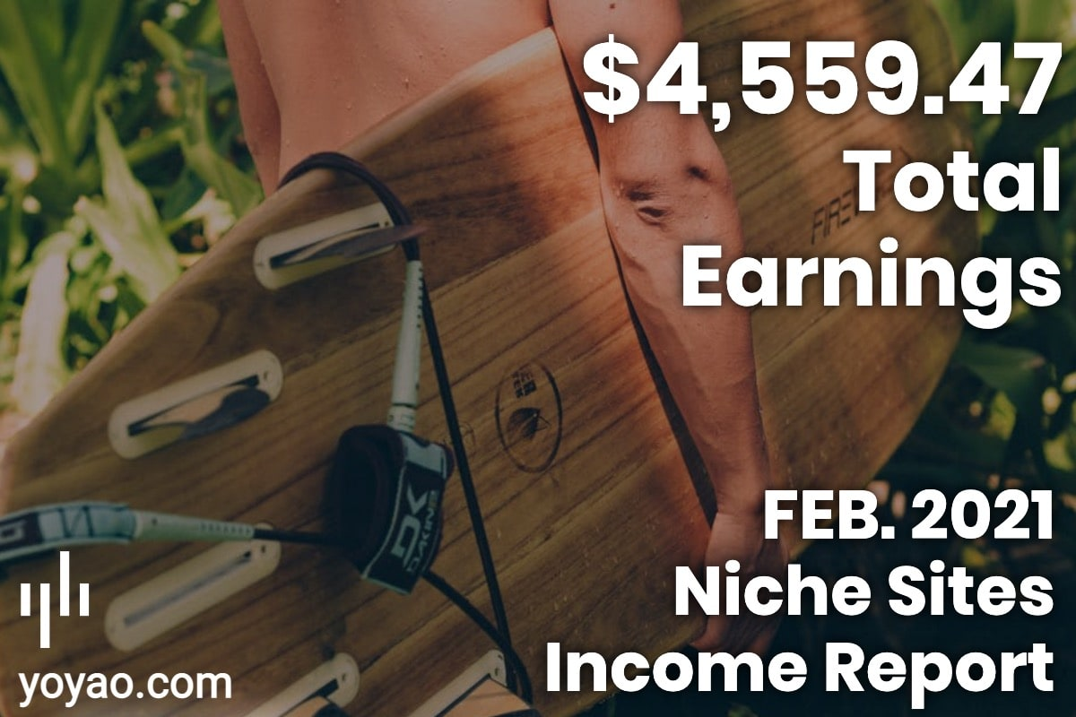 February 2021 Month 9 Income Report Affiliate Marketing Niche Sites