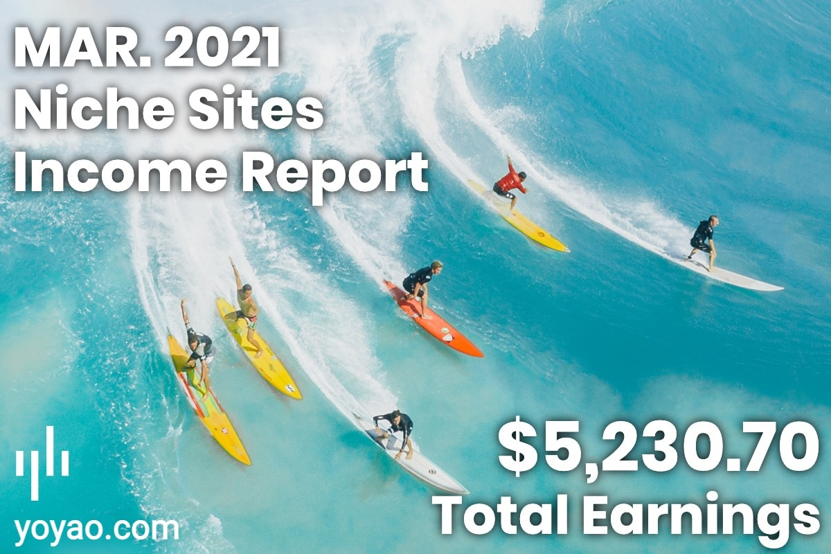 March 2021 Month 10 Income Report Affiliate Marketing Niche Sites
